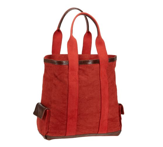 Union Recycled Canvas Tote Bag, Red
