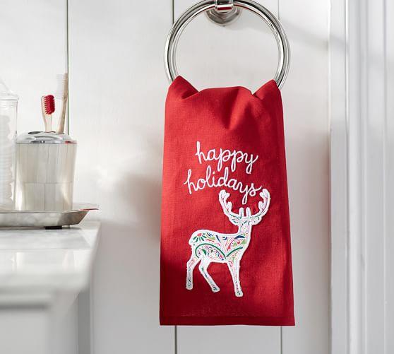 Reindeer Guest Towel