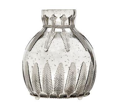 Madeline Mercury Glass Amp Metal Vases Pottery Barn