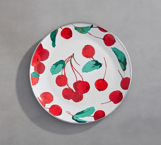 Cherry Salad Plate, Set of 4