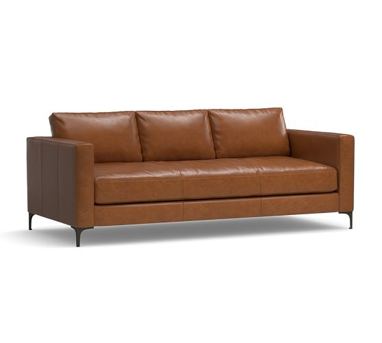 Jake Leather Sofa Pottery Barn