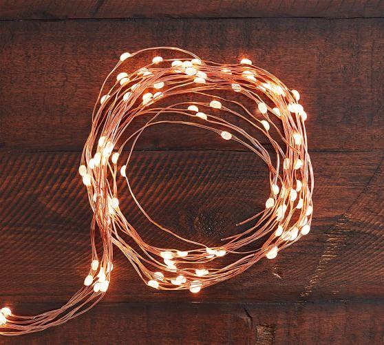 String Lights For Umbrella : Mini LED Umbrella String Lights Pottery Barn
