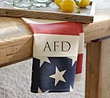 American Flag Star Kitchen Towel, Blue