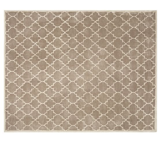 Jali Geo Tufted Rug Taupe Pottery Barn