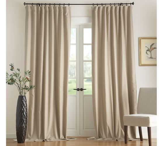 Carson Linen/Cotton Pole-Pocket Drape, 50 x 63