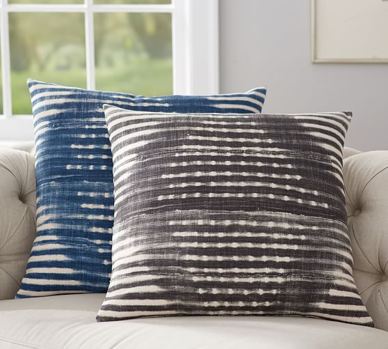 Diamond Shibori Print Pillow Cover