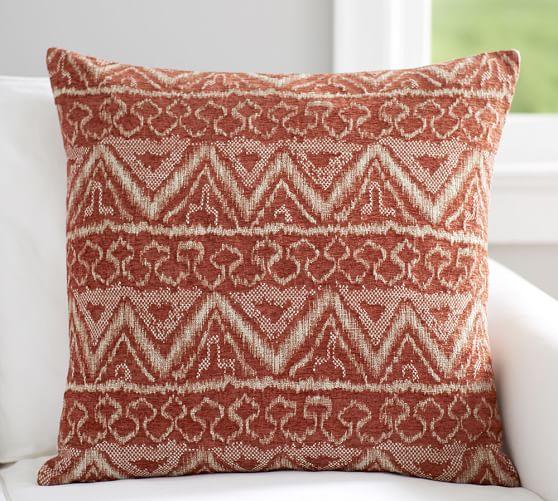 ikat jacquard pillow cover pottery barn. Black Bedroom Furniture Sets. Home Design Ideas