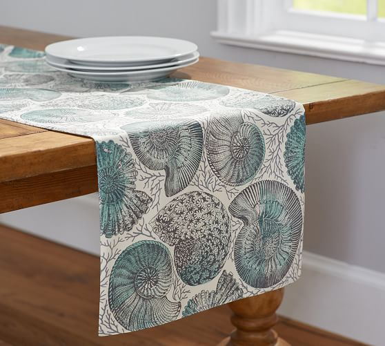 Coral Shell Napkin Table Runner