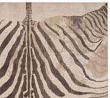 Zebra Printed Rug Swatch, 18x18, Neutral