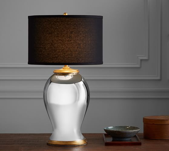 Tierney Gold & Mercury Statement Lamp Base