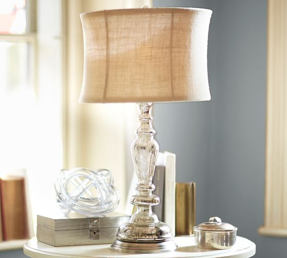 leera antique mercury glass table lamp base pottery barn. Black Bedroom Furniture Sets. Home Design Ideas