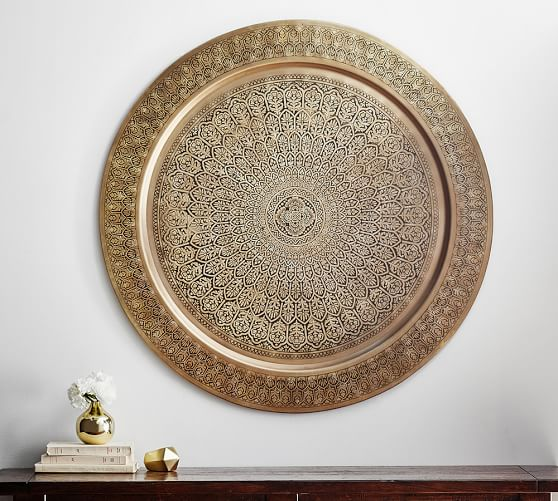 Decorative metal disc brass pottery barn - Massieve decoratieve tuin ...