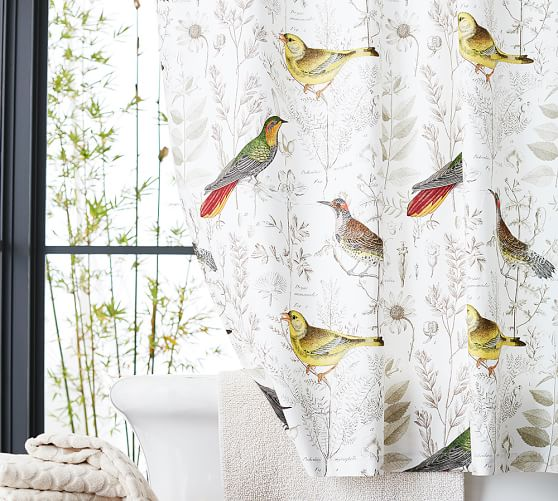 Meadowlark Print Organic Shower Curtain