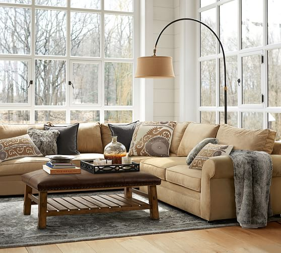 Images Of Sectional Sofas In Living Rooms: Pearce Upholstered 3-Piece L-Shaped Sectional With Wedge