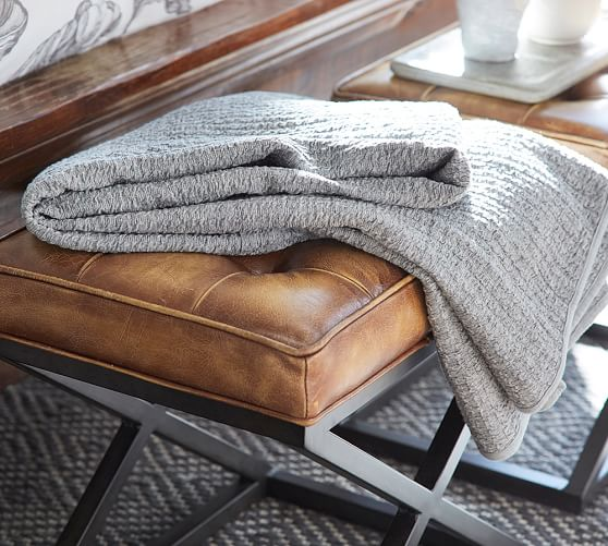 Knitting Pattern For Pottery Barn Throw : Sylvie Knit Throw Pottery Barn