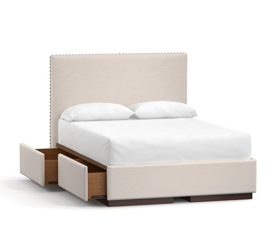 Raleigh Upholstered Square Tall Headboard Storage