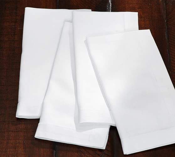 Caterer's 6-Piece Dinner Napkin Set, White