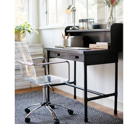 Knox Metal Desk with Hutch