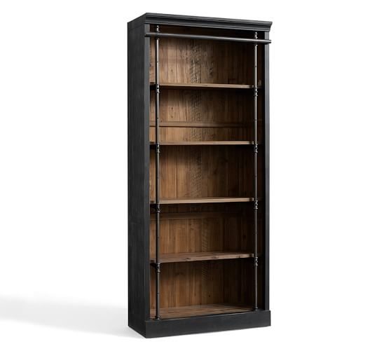Recycled Wood Bookcase ~ Gavin reclaimed wood bookcase pottery barn