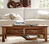 Bowry Reclaimed Wood Coffee Table, Rustic Reclaimed Finish