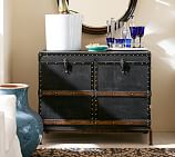 Ludlow Trunk with Stand Bar, Black