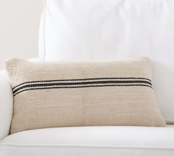 Pottery Barn Lumbar Pillows: Vintage Grainsack Lumbar Pillow Cover