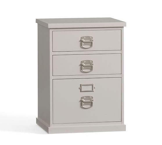 Bedford 3-Drawer File Cabinet, Norfolk Gray