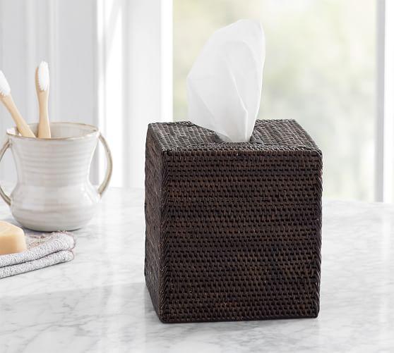Tava Tissue Box Cover, Espresso stain