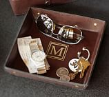 Saddle Leather Catchall, Chocolate