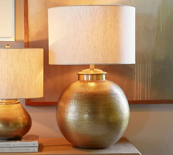 Nori Hammered Table Lamp Base Brass Pottery Barn