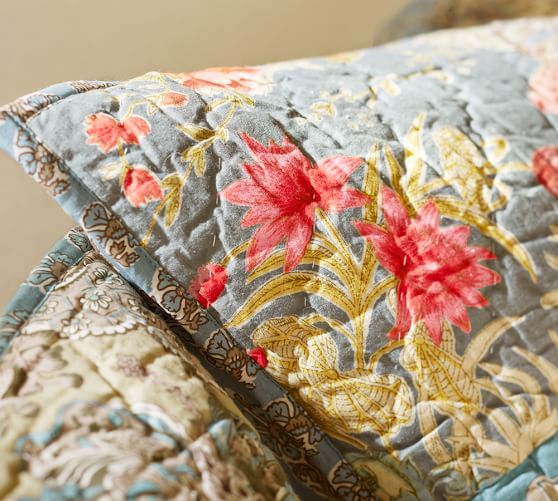 Neena Patchwork Quilt Amp Sham Pottery Barn