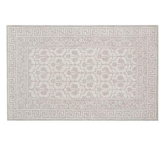 Braylin Tufted Wool Rug, 5x8', Gray