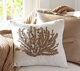 Caicos Coral Embroidered Pillow Cover, 18