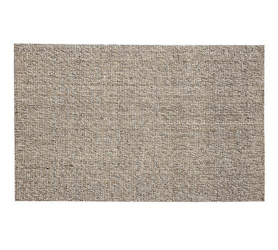 Chunky Wool & Boucle-Woven Jute Rug, 5x8', Gray