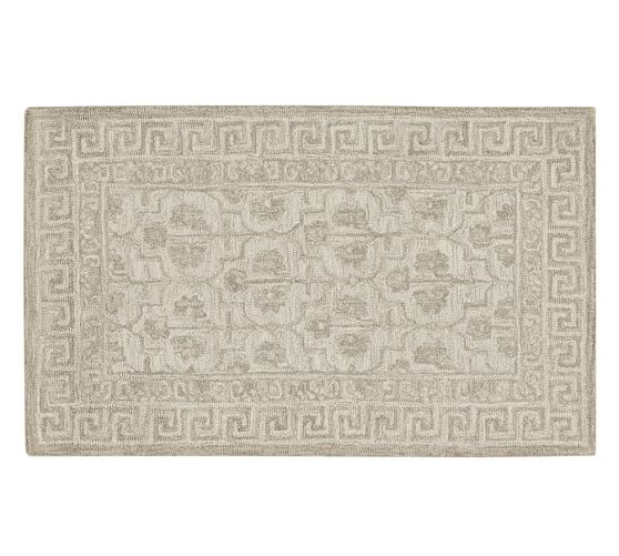 Braylin Tufted Wool Rug, 3x5', Ivory