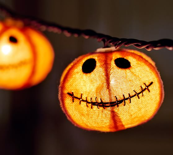 Mini Lantern String Lights Pottery Barn : Jack O Lantern Burlap String Lights Pottery Barn