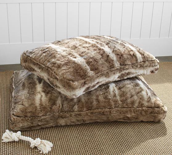 Faux Fur Pet Bed Cover - Caramel Ombre