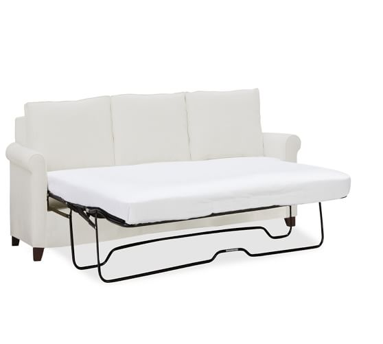 Cameron roll arm upholstered sleeper sofa pottery barn for Sofa with only one arm