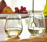 Santino Recycled Stemless Wine Glass, Set of 6, Clear