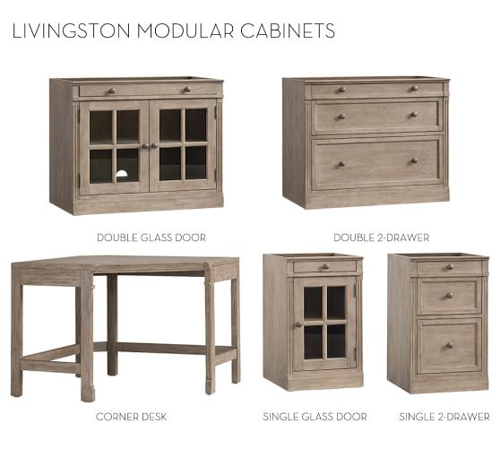 build your own modular livingston collection pottery barn. Black Bedroom Furniture Sets. Home Design Ideas