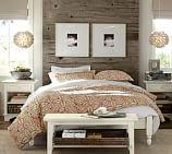 Addison Platform Bed Frame, Full, Almond White
