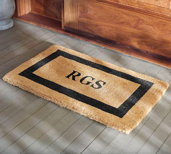 Pottery Barn Personalized Doormat: Monogrammed Doormat