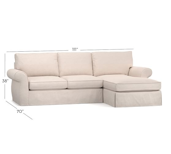 Pottery Barn Furniture Reviews Pearce Sectional: Pearce Slipcovered Sofa With Chaise Sectional