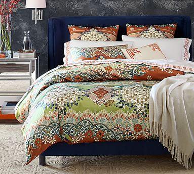 maki silk duvet cover sham pottery barn. Black Bedroom Furniture Sets. Home Design Ideas