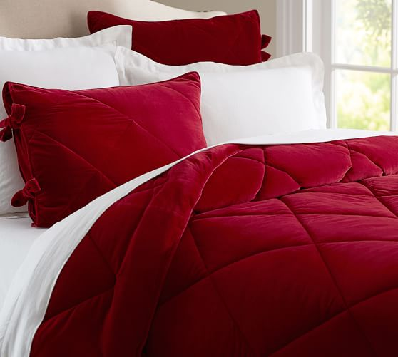 Velvet Comforter Amp Sham Pottery Barn