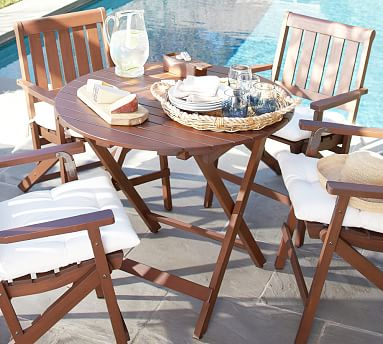 chatham round folding bistro table pottery barn. Black Bedroom Furniture Sets. Home Design Ideas