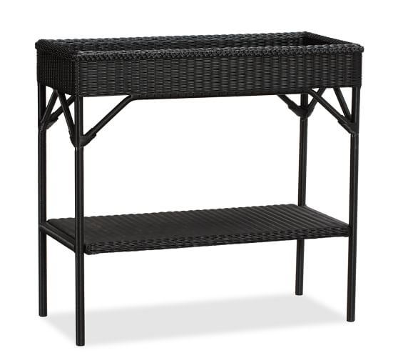 Palmetto Allweather Wicker Bar Console  Black  Pottery Barn. Rectangular Drop Leaf Table. Marble Top End Table. Driftwood Side Table. Craigslist Writing Desk. Rustic Living Room Tables. Square Conference Table. Round Patio Coffee Table. Tiny Desk Concert Edward Sharpe