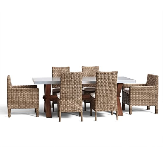 Abbott Zinc Top Rectangular Dining Table Amp Torrey Chair