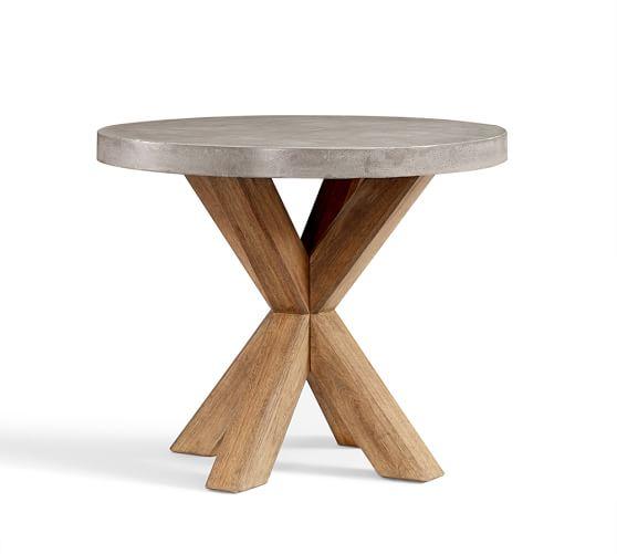 Abbott Round Bistro Table Pottery Barn