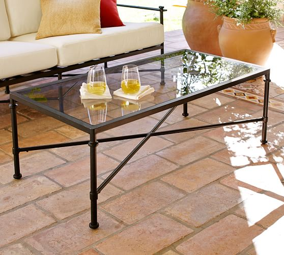 Redding Rectangular Coffee Table With Glass